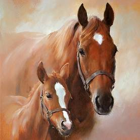 Ambiente lounasservetti Horse with foal 33x33cm - Servetit - 11019 - 1
